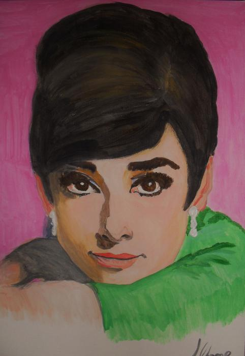 Audrey Hepburn by Lindasart